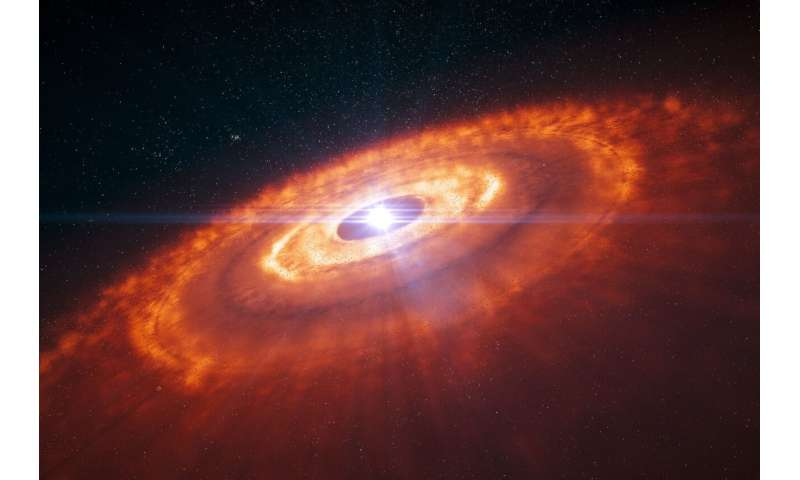 The rare molecule involved in the birth of planets.