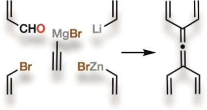 Strained, Symmetric, and New: Tetravinylallene, a small but powerful molecule, has been synthesized for the first time