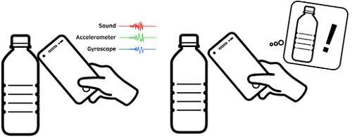 Object identification and interaction with a smartphone knock