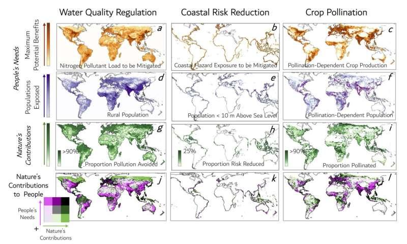 New tool visualizes nature's benefits worldwide