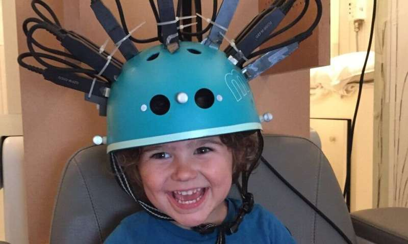 New 'bike helmet' style brain scanner used with children for first time