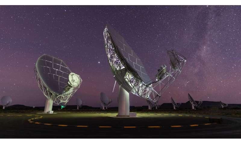 Caught in the act: MeerKAT telescope spies stellar flare