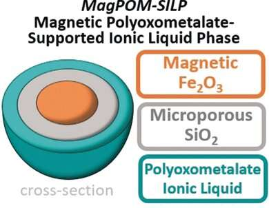 Magnetic nanoparticles with ionic liquids for water purification