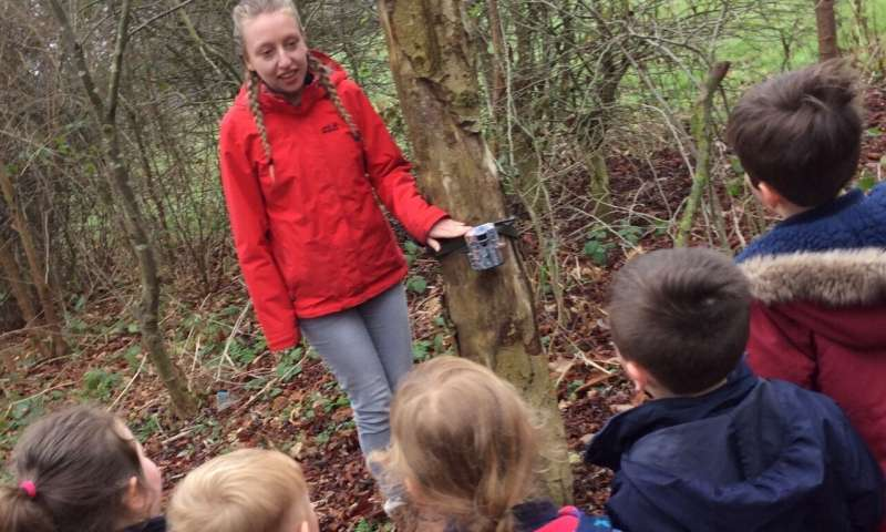 School citizen science project dramatically improves children's knowledge of UK mammals