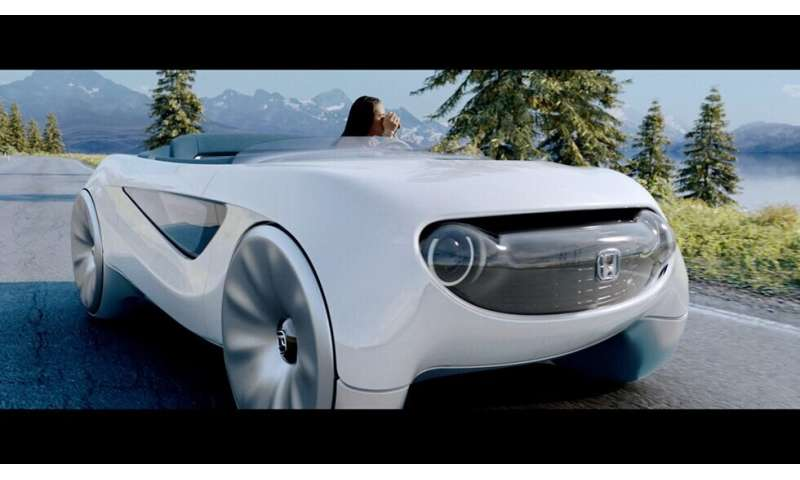 Honda self-driving concept offers on and off modes