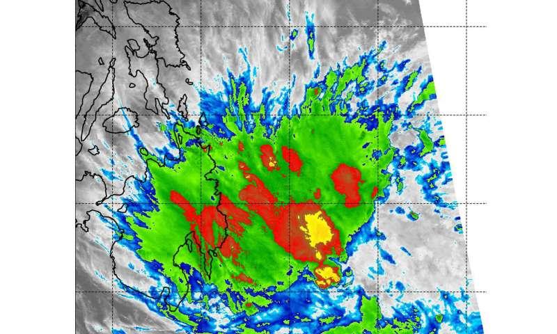NASA-NOAA Satellite catches last burst of energy in Tropical Depression 03W