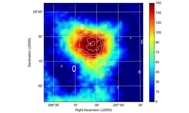 Astronomers investigate pulsar wind nebula DA 495
