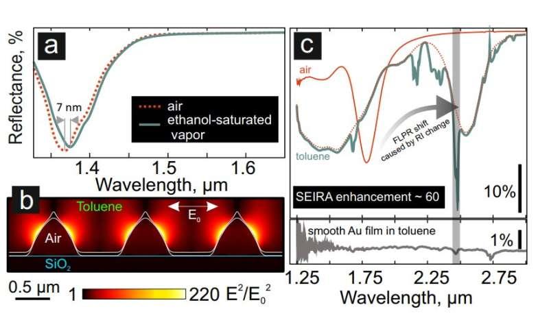 FEFU scientists developed high-precision sensor based on laser-textured gold film