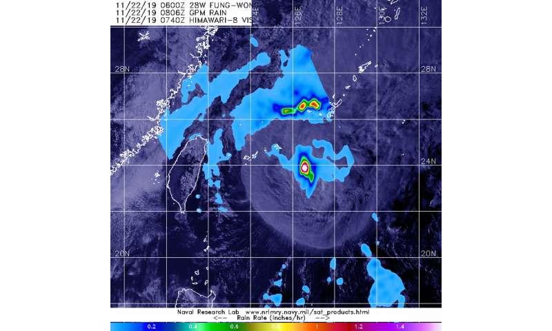 NASA examines tropical storm Fung-Wong's rainfall