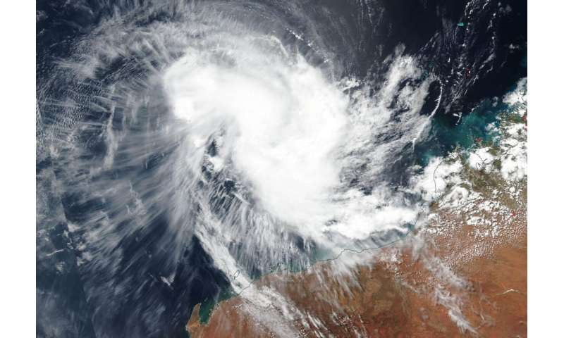 NASA-NOAA satellite finds a more circular Tropical Cyclone Wallace