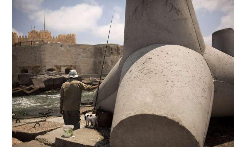 Rising seas threaten Egypt's fabled port city of Alexandria
