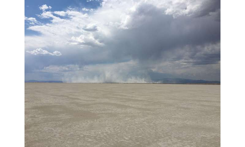 Researcher surveys Great Salt Lake playa