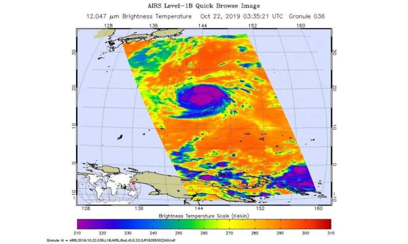 NASA finds heavy rain potential in typhoon Bualoi over Marianas