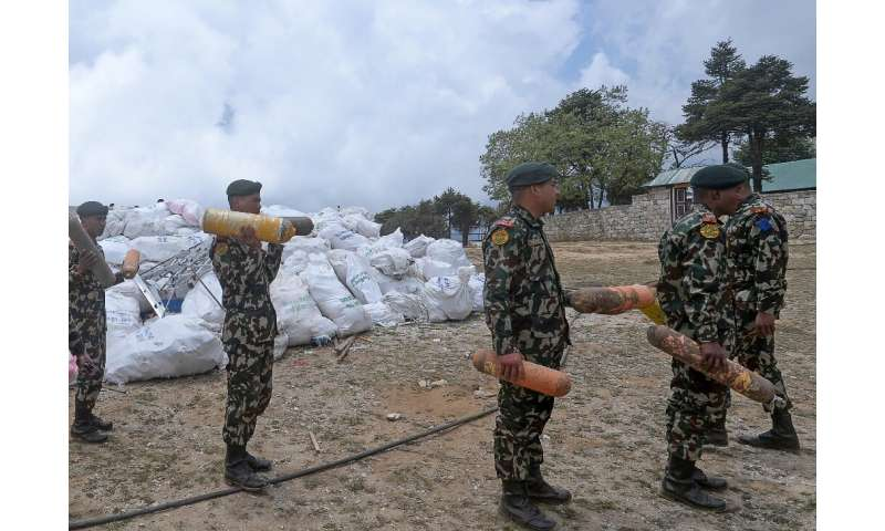 A 14-strong team sent by the government spent about six weeks scouring for litter at base camp and at Camp 4