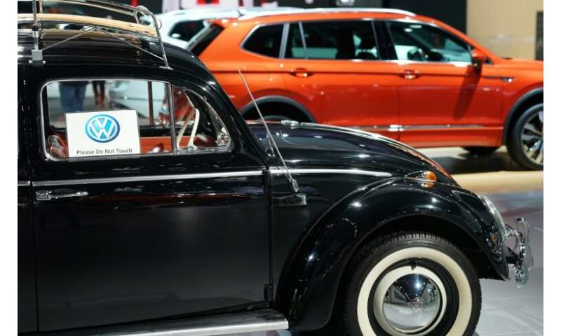 A 1964 VW Beetle is on display at the North American International Auto Show in Detroit, is a remnant of a simpler time for auto