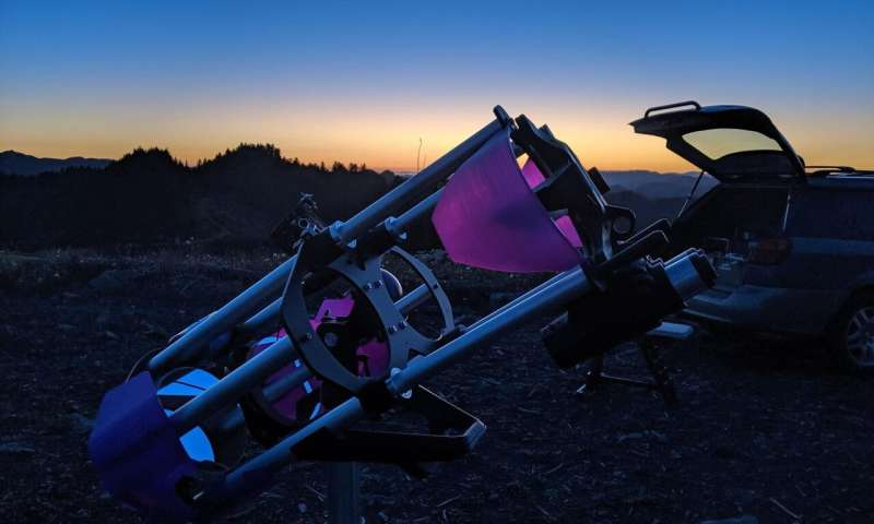 A 3-D printed telescope—the analog sky drifter