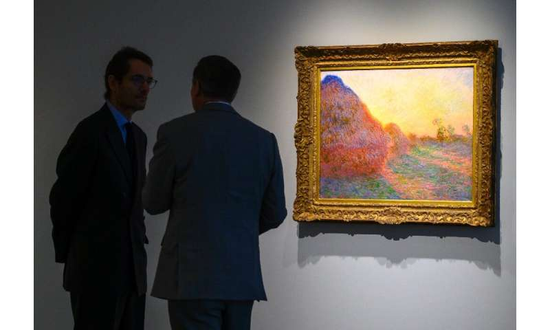 """A Claude Monet painting from his celebrated """"Meules"""" (Haystacks) series drew $110.7 million at Sotheby's in New York i"""