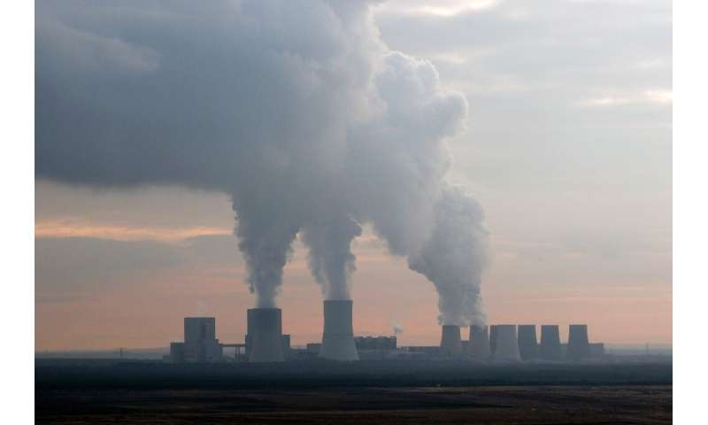 A coal-fired power plant in Germany's east, where protests against the country's plan to shutter its coal sector have been loude