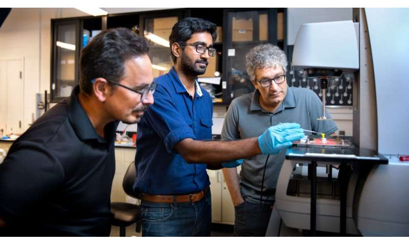 Acoustic energy harnessed to soften shear-thickening fluids
