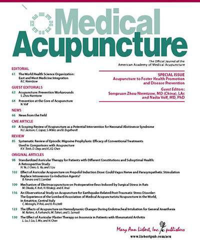 Acupuncture equals disease prevention say new studies
