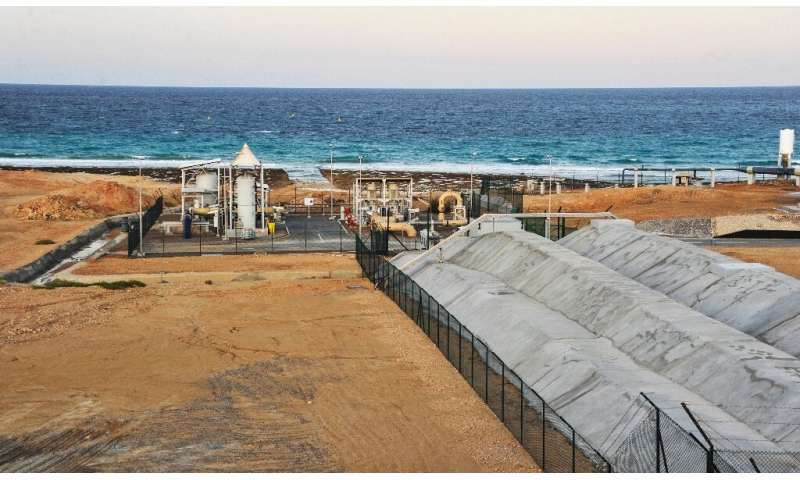 A desalination plant in the Omani port city of Sur, south of the capital Muscat, services some 600,000 people