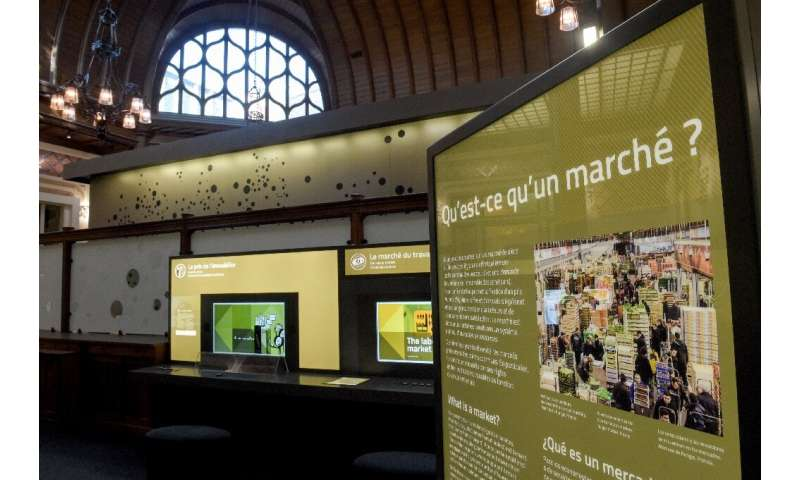 A display on markets at the Citeco musuem, which puts an emphasis on hands-on displays