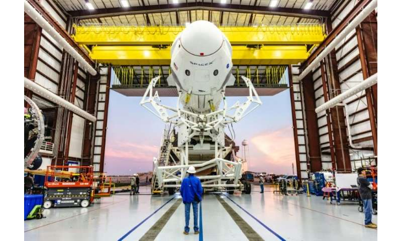 A Falcon 9 rocket from the private US-based SpaceX is scheduled to lift off, weather permitting, on March 2 to take the Crew Dra