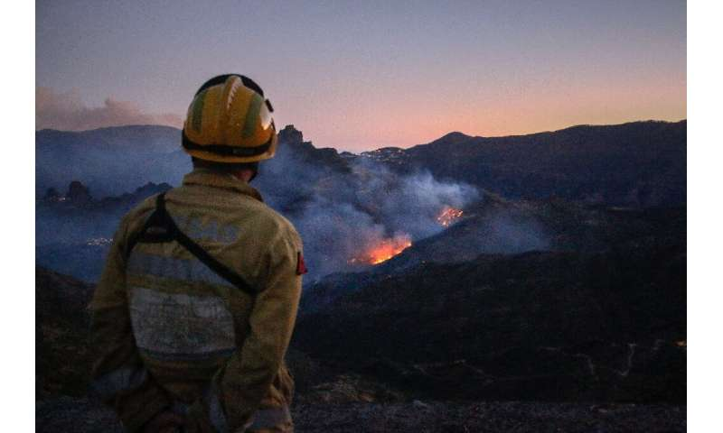 A fire raging on Gran Canaria has subsided after officials said they feared an 'environmental tragedy'