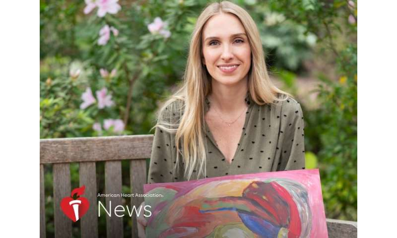 AHA news: drawing on A love of art, she's gone from patient to healer