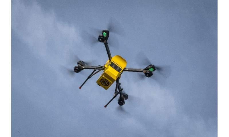 A Hermes V8MT drone of Polish firm Spartaqs with eight propellers will soon be used between a blood bank and the Institute of Ca