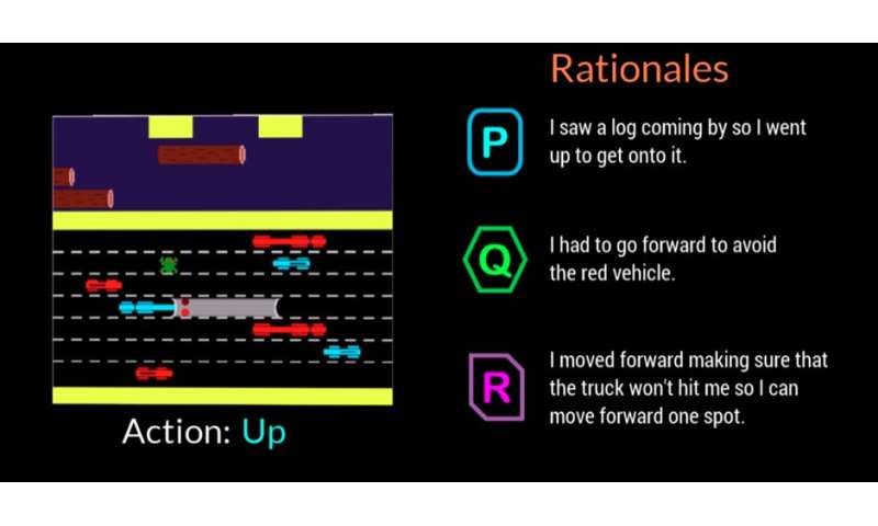 AI agent offers rationales using everyday language to explain its actions