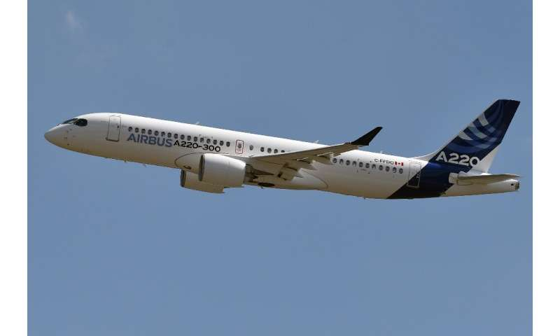 Airbus's new A220-300 is a medium-haul jet designed to carry 100 to 150 passengers