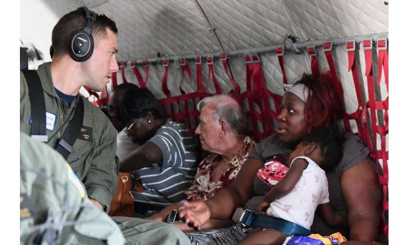 Aircrew medevac 10 people affected by Hurricane Dorian from Marsh Harbour to Nassau, Bahamas