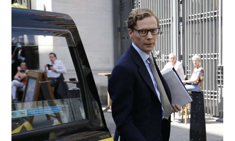 Alexander Nix, seen in a 2018 photo taken in London, was CEO of Cambridge Analytica, a consulting firm that US officials say dec