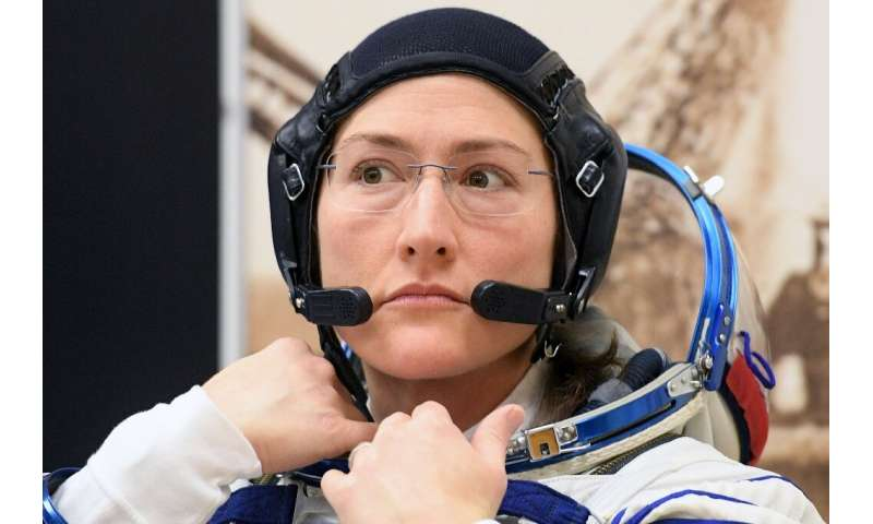 Also currently in the ISS is Christina Koch,who  will soon beat the record for the longest time a woman has been in space, at 11