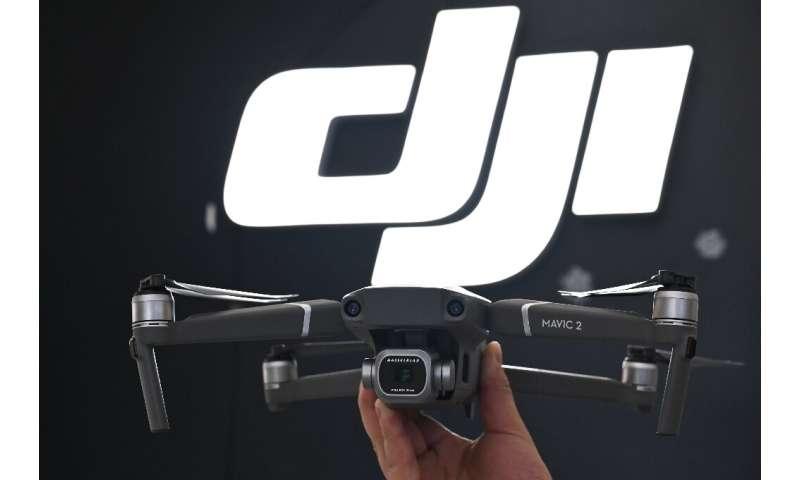 A Mavic Pro 2 drone made by the Chinese company DJI