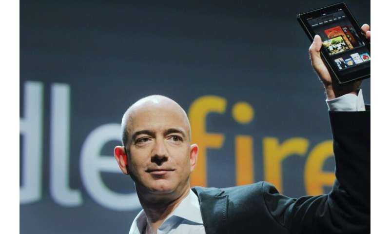 Amazon Chief Executive Jeff Bezos traded barbs with Walmart as the companies battle for retail supremacy