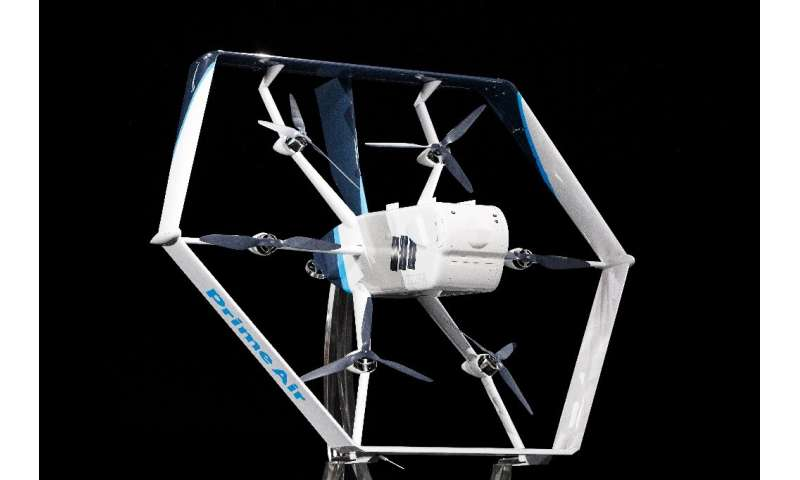 "Amazon recently showed a drone design for its ""Prime Air"" fleet and expects to begin large-scale deliveries by drone i"
