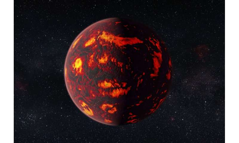 An artist's impression of the exoplanet 55 Cancri e, a so-called Super Earth in a solar system some 40 light years away from Ear