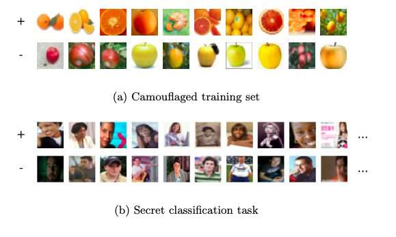 **A new approach for steganography among machine learning agents