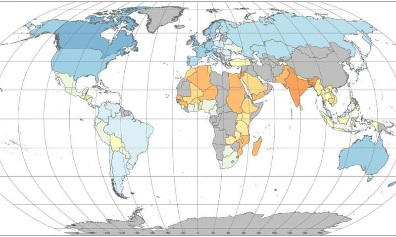 A new world map rates food sustainability for countries across the globe