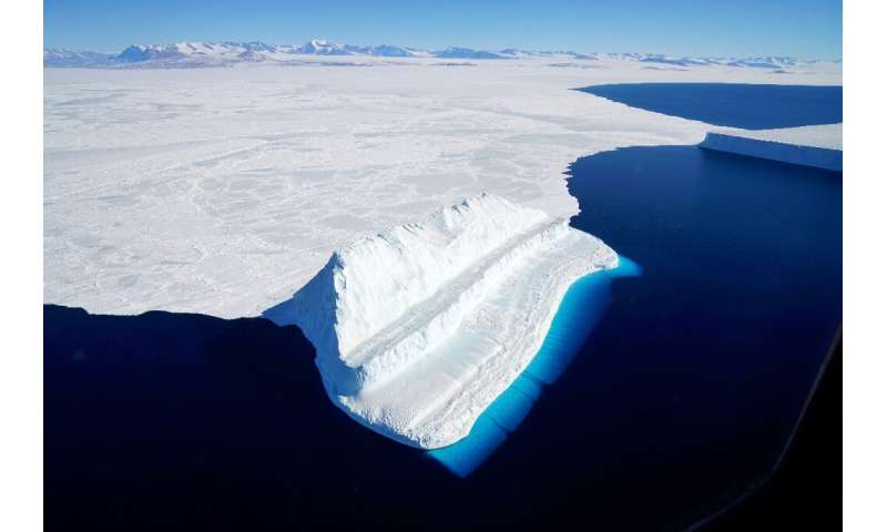 An iceberg in Antarctica's McMurdo Sound photographed by A NASA
