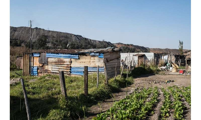 An informal settlement near the Schonland coal mine in eMalahleni