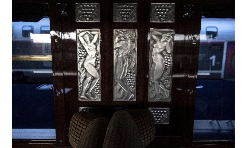 An onboard triptych created by French glass designer Rene Lalique
