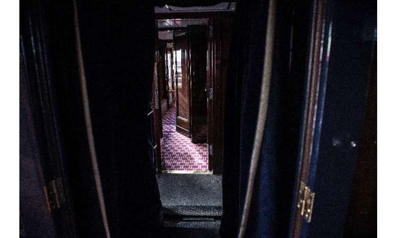 An Orient Express corridor, thre kind immortalised by Agatha Christie and other writers