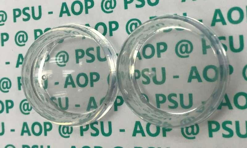 Antireflection coating makes plastic invisible