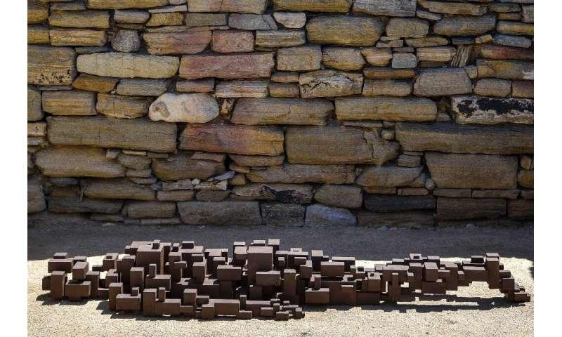 Antony Gormley's 'Settlement III', among the ruins on the island of Delos