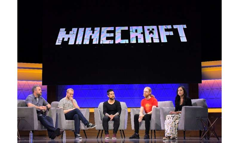 A panel on Minecraft at  E3, a video game trade show in Las Vegas in June 2019