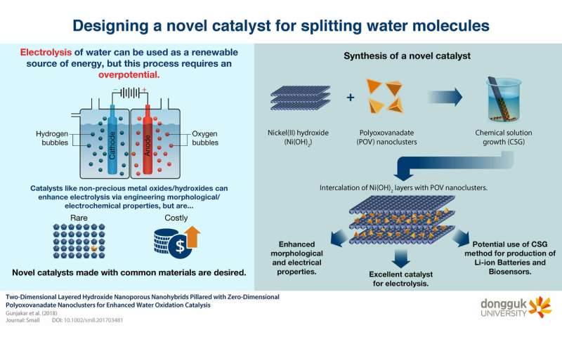 A powerful catalyst for electrolysis of water that could help harness renewable energy