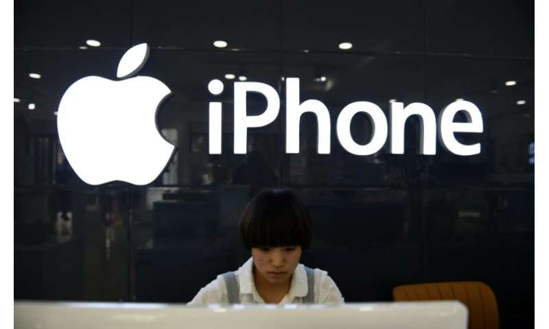 """Apple said iPhone sales in China would be lower than forecast due to steeper than expected """"economic deleration"""""""